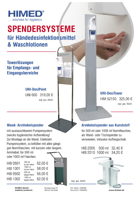 Spendersysteme Desinfektion